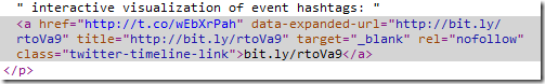 Tweet html source