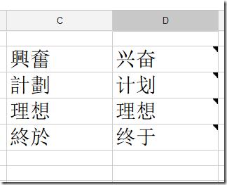 Google Spreadsheet Example