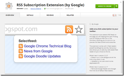 RSS Subscription Extension (by Google)