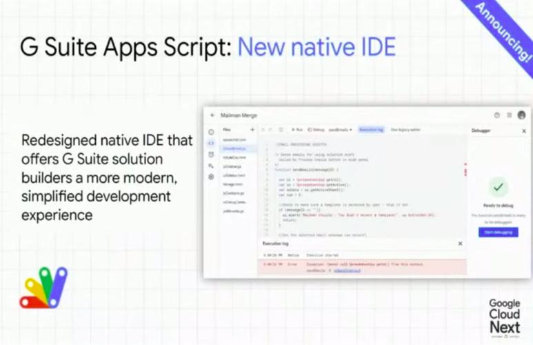 New Apps Script IDE